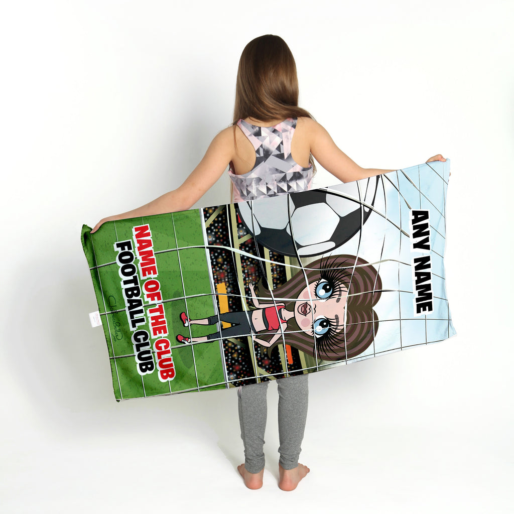 ClaireaBella Girls Football Gym Towel - Image 3