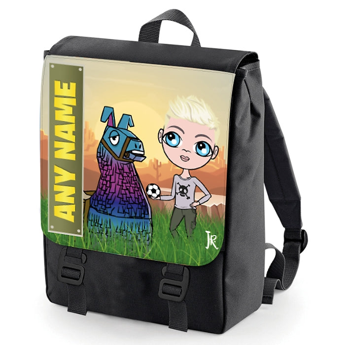 Jnr Boys Llama Looting Backpack - Image 2
