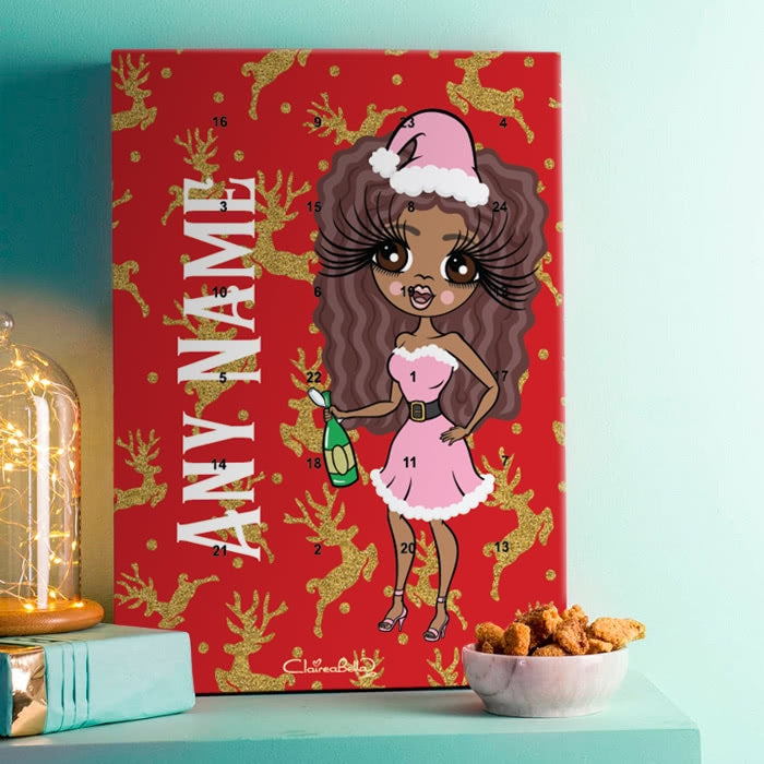 ClaireaBella Golden Reindeer Advent Calendar - Image 1