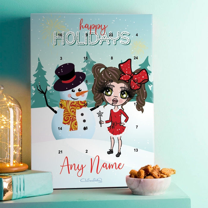 ClaireaBella Girls Snowman Advent Calendar - Image 1