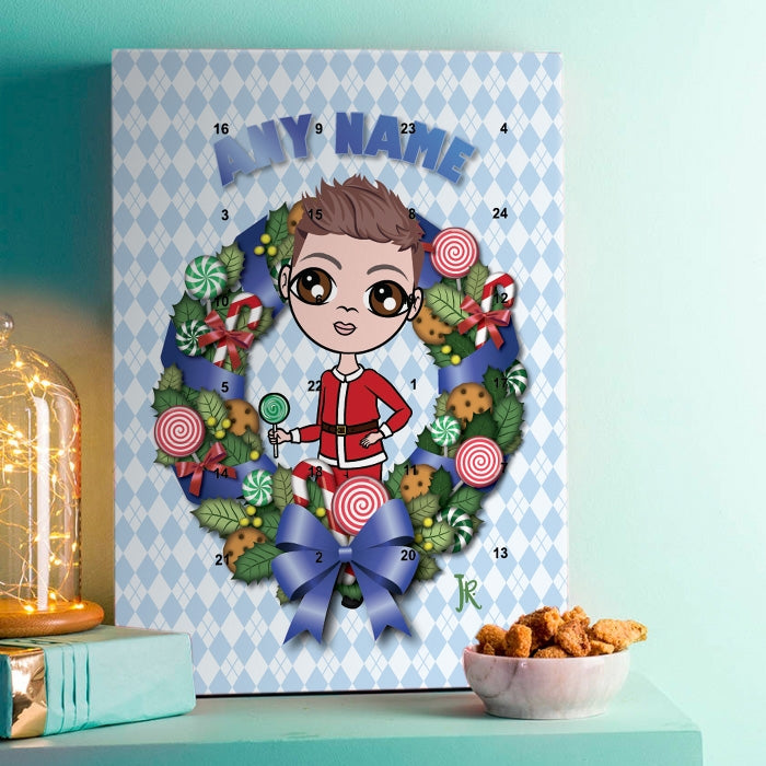 Jnr Boys Sweet Wreath Advent Calendar - Image 1
