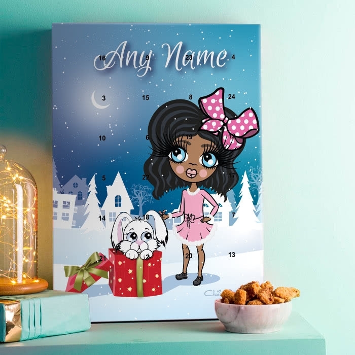 ClaireaBella Girls Snow Bunny Advent Calendar - Image 1