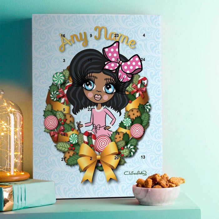 ClaireaBella Girls Sweet Wreath Advent Calendar - Image 1