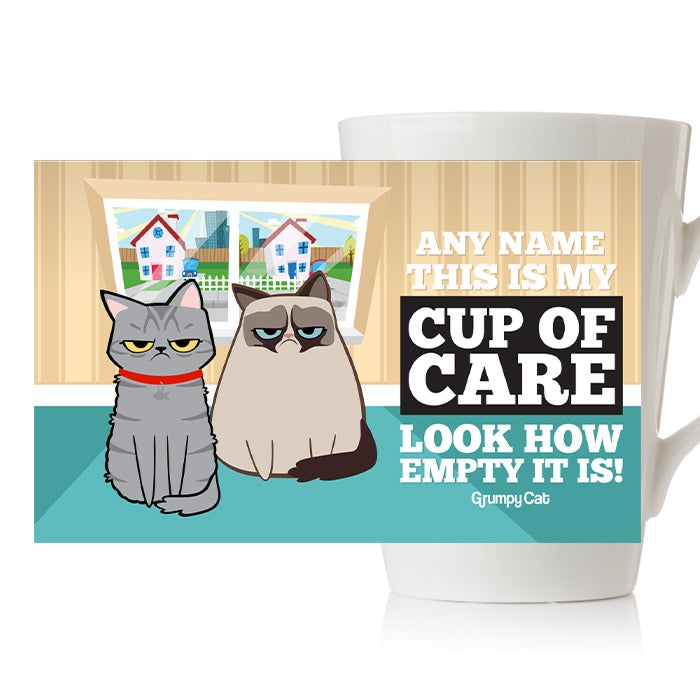 Grumpy Cat Care Latte Mug - Image 2