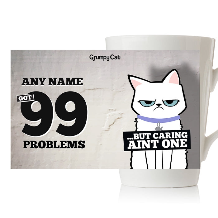Grumpy Cat 99 Problems Latte Mug - Image 3