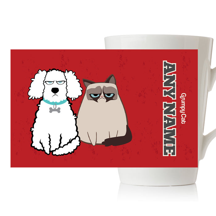 Grumpy Cat Red Latte Mug