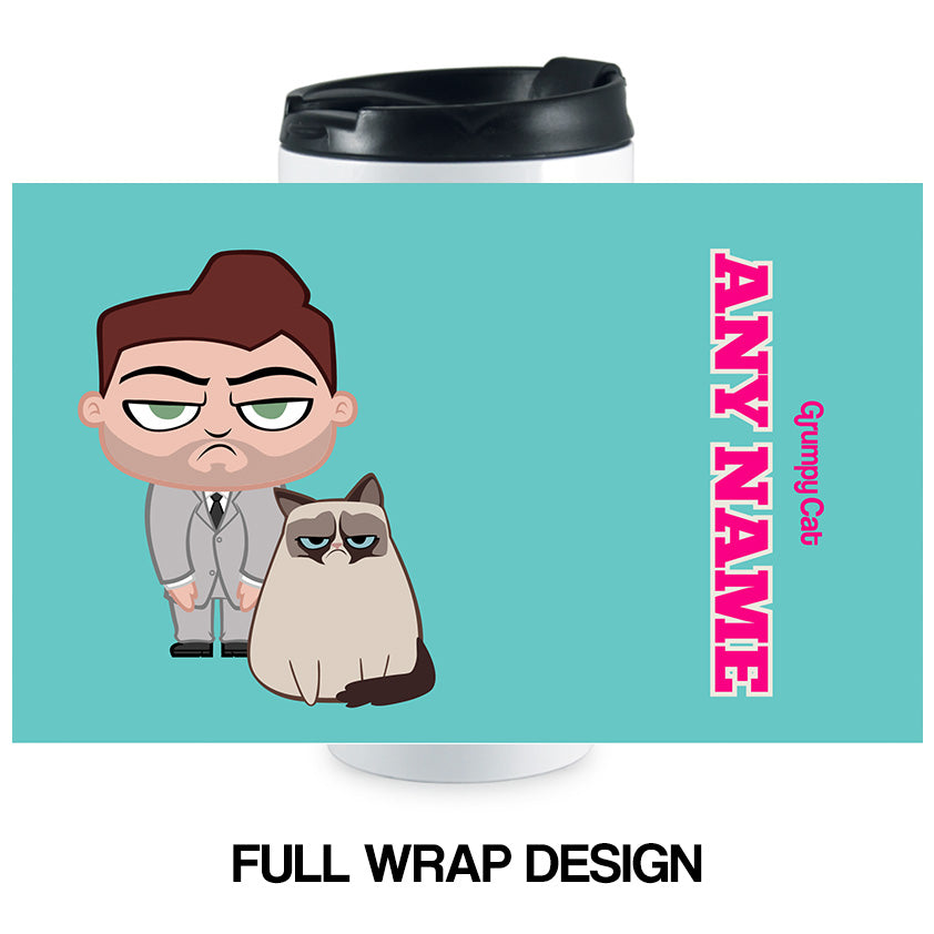 Grumpy Cat Turquoise Travel Mug