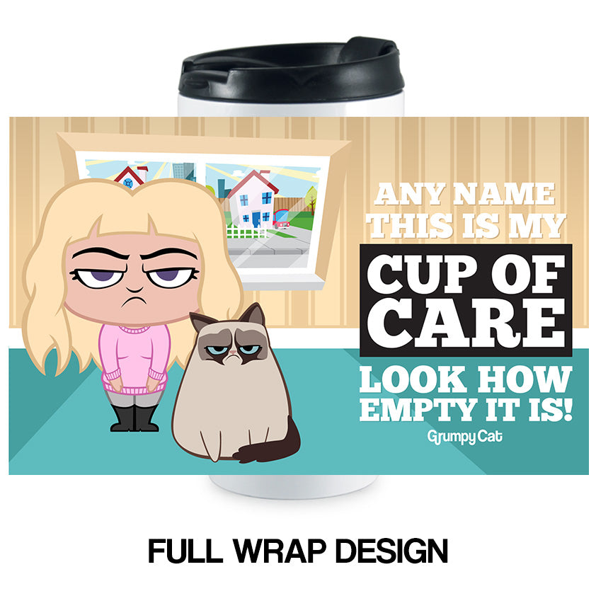 Grumpy Cat Cup Of Care Travel Mug
