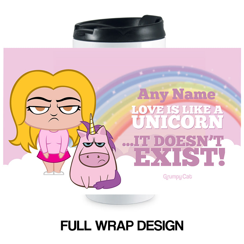 Grumpy Cat Unicorn Travel Mug