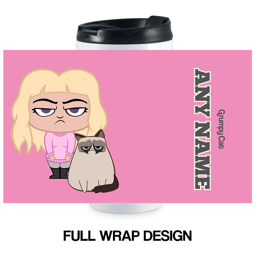 Grumpy Cat Pink Travel Mug
