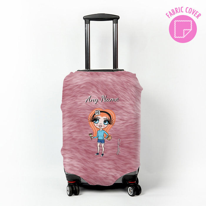 ClaireaBella Girls Fur Effect Suitcase Cover