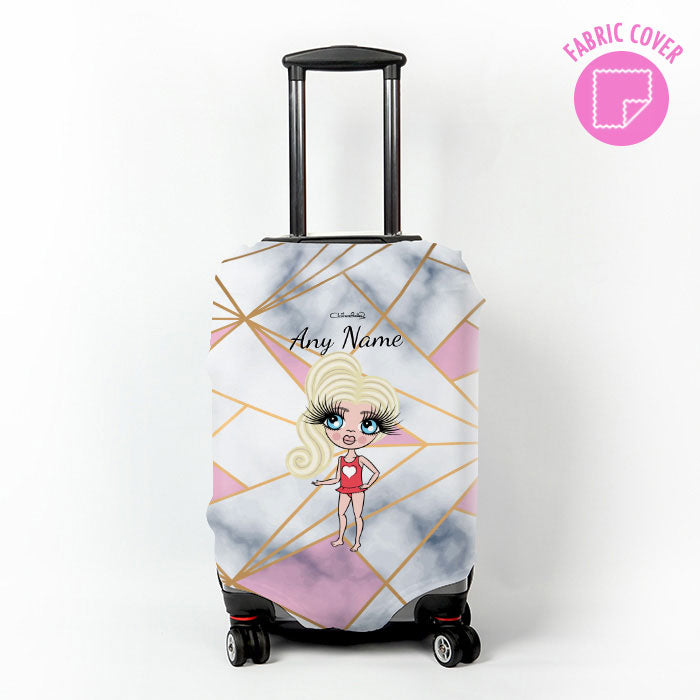 ClaireaBella Girls Geo Suitcase Cover