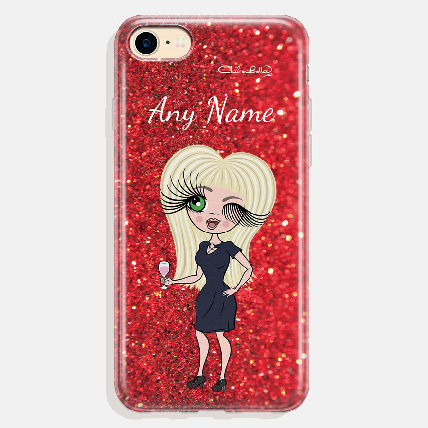 ClaireaBella Personalised Romantic Glitter Effect Phone Case