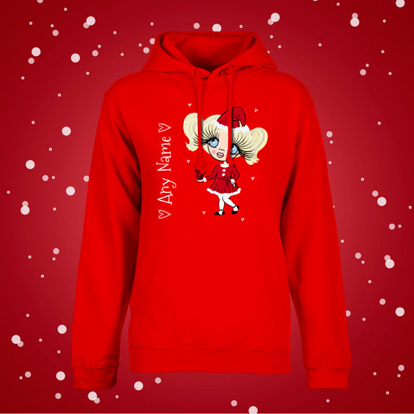 ClaireaBella Girls Christmas Hoodie - Image 1