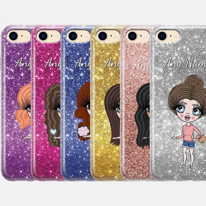 ClaireaBella Girls Personalised Glitter Effect Phone Case
