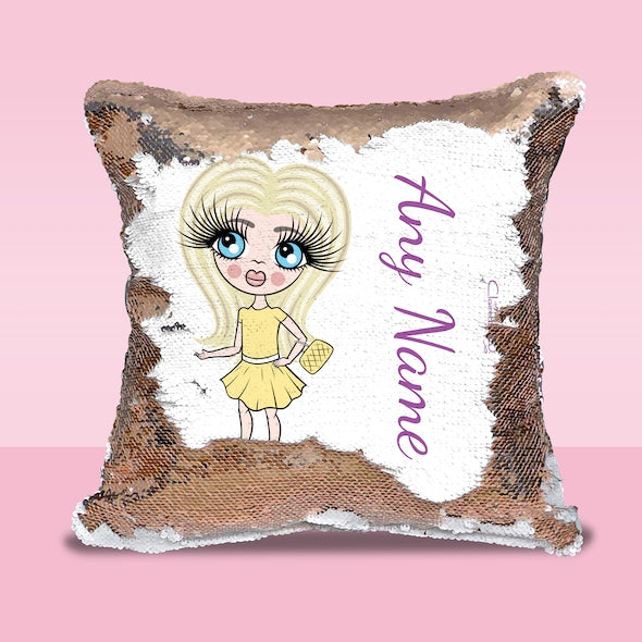 ClaireaBella Girls Classic Sequin Cushion - Image 1