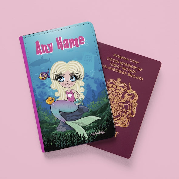 ClaireaBella Girls Mermaid Passport Cover - Image 1