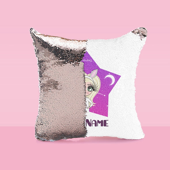 ClaireaBella Girls Star Bright Sequin Cushion - Image 4