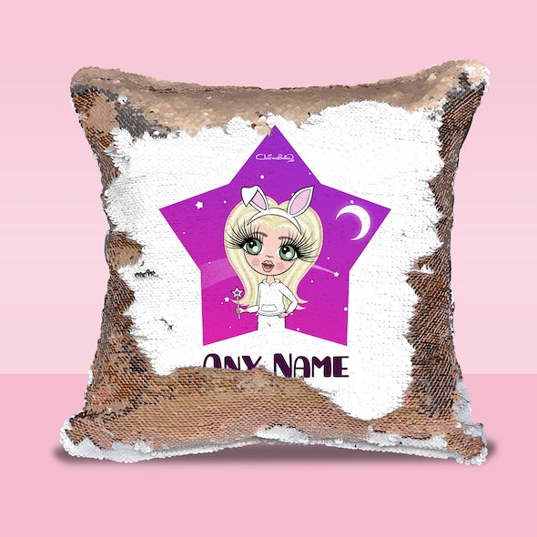 ClaireaBella Girls Star Bright Sequin Cushion - Image 1