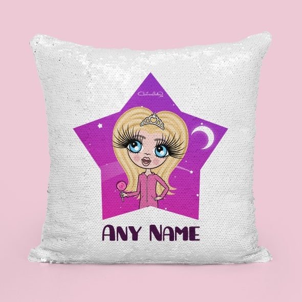 ClaireaBella Girls Star Bright Sequin Cushion - Image 3