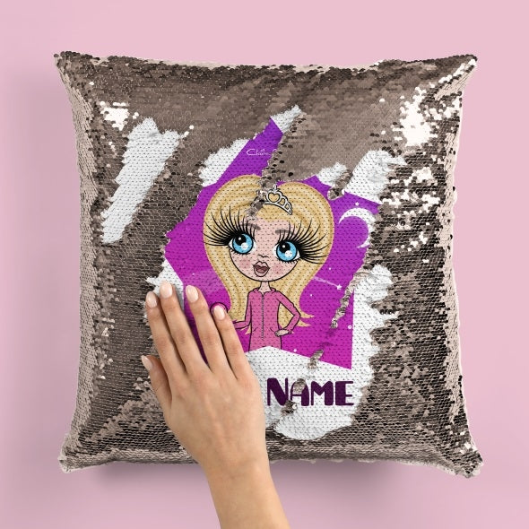 ClaireaBella Girls Star Bright Sequin Cushion - Image 2