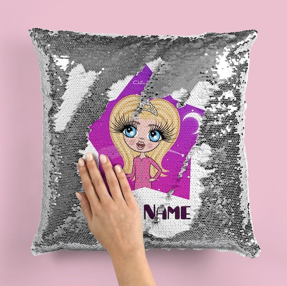 ClaireaBella Girls Star Bright Sequin Cushion - Image 5