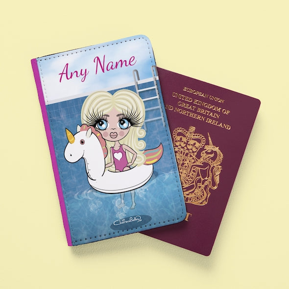 ClaireaBella Girls Unicorn Float Passport Cover - Image 1