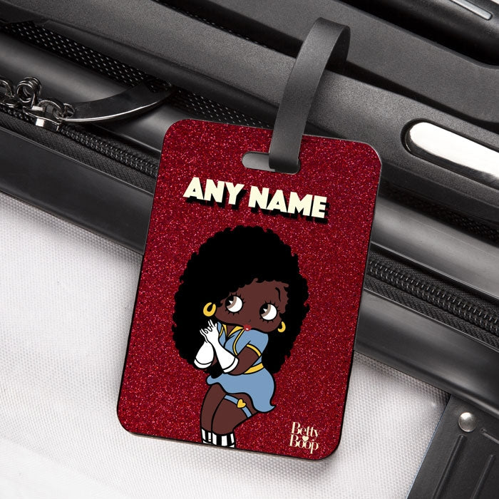 Betty Boop Red Glitter Effect Luggage Tag - Image 2
