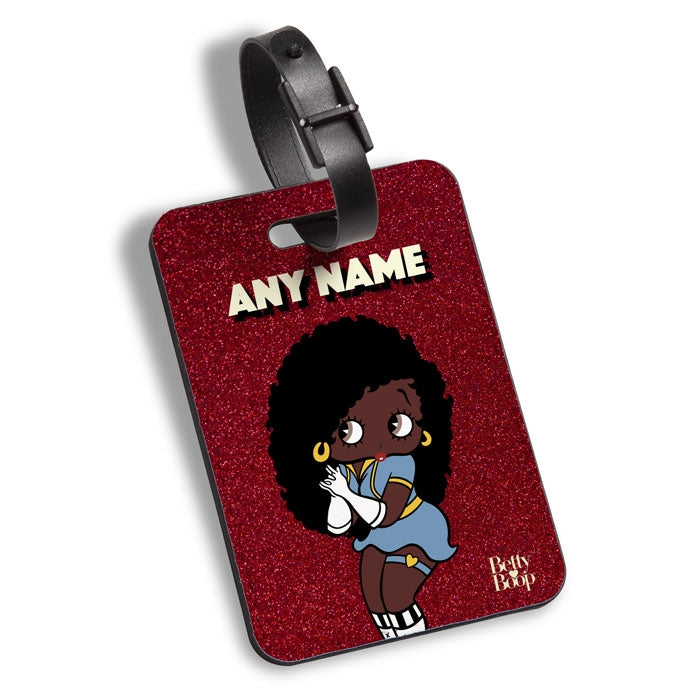 Betty Boop Red Glitter Effect Luggage Tag - Image 1