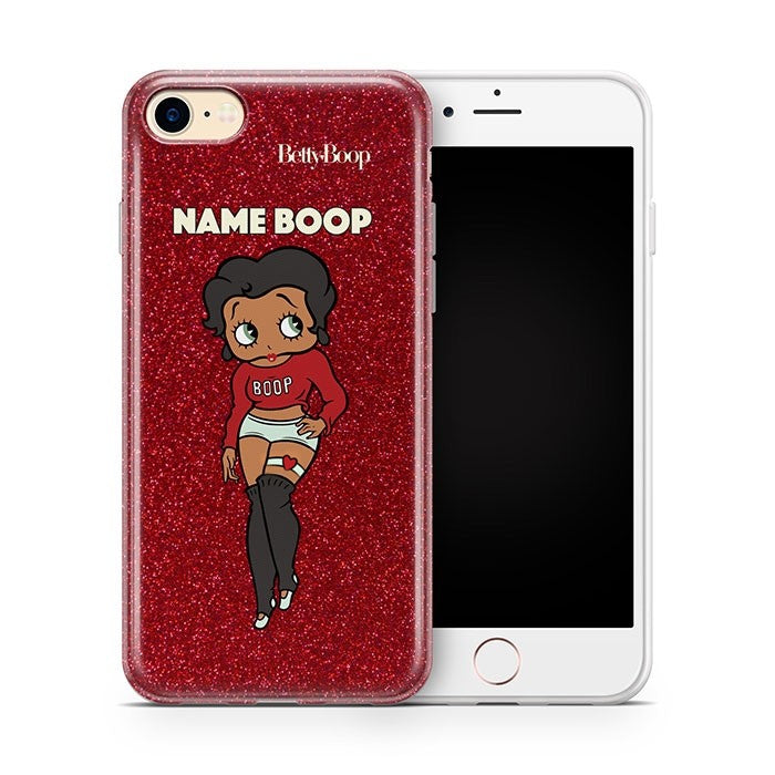 Betty Boop Red Glitter Effect Phone Case - Image 1