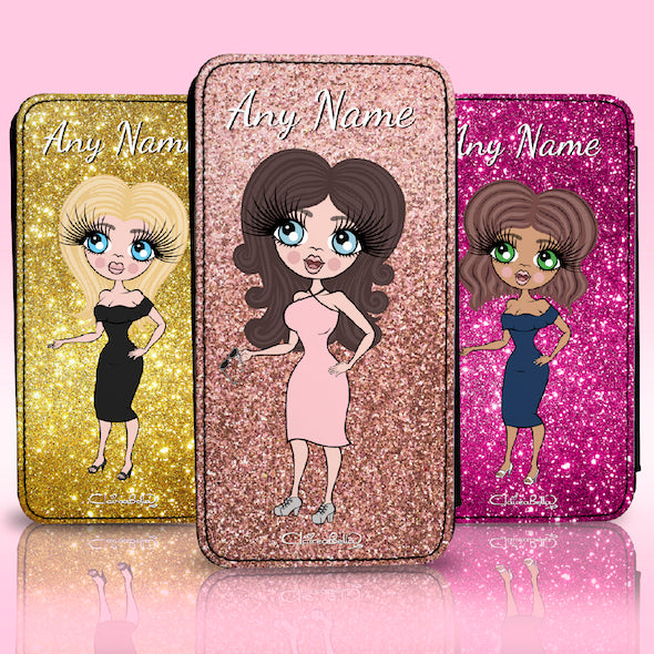ClaireaBella Personalised Glitter Effect Flip Phone Case - Image 1