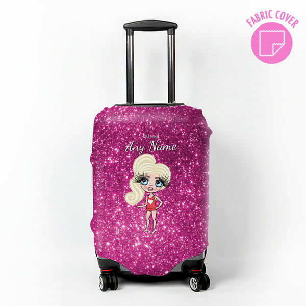 ClaireaBella Girls Glitter Effect Suitcase Cover