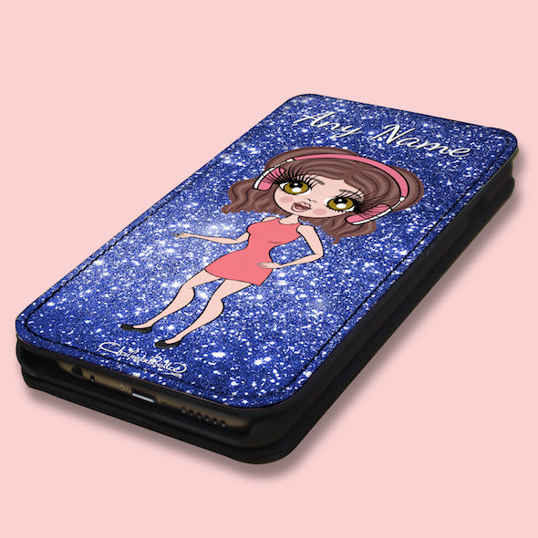 ClaireaBella Personalised Glitter Effect Flip Phone Case - Image 3