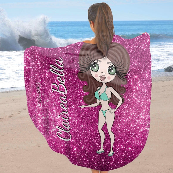 ClaireaBella Glitter Effect Circular Beach Towel - Image 2
