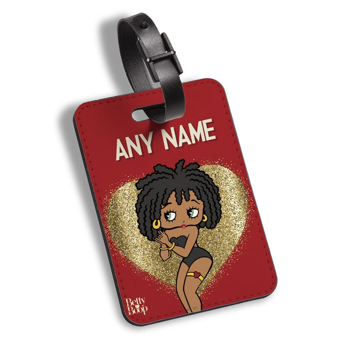Betty Boop Glitzy Heart Luggage Tag - Image 1