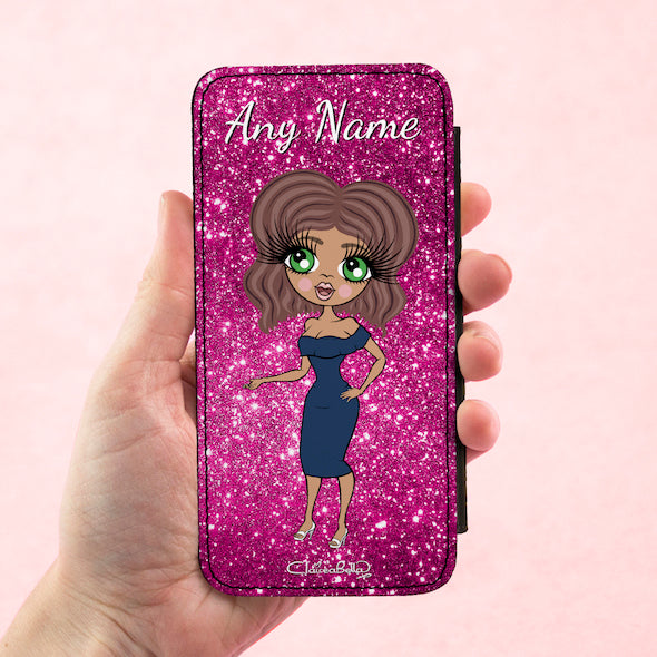 ClaireaBella Personalised Glitter Effect Flip Phone Case - Image 4