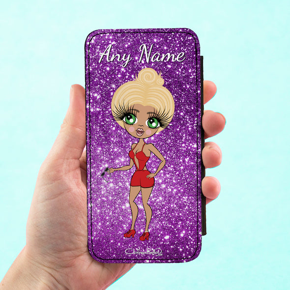 ClaireaBella Personalised Glitter Effect Flip Phone Case - Image 6