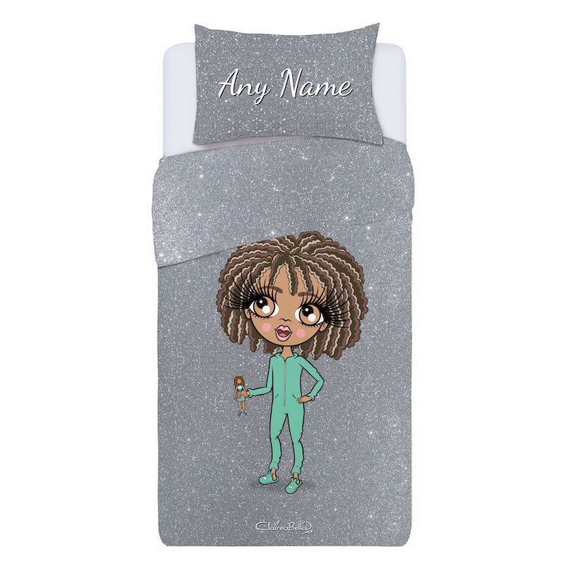 ClaireaBella Girls Personalised Glitter Effect Bedding