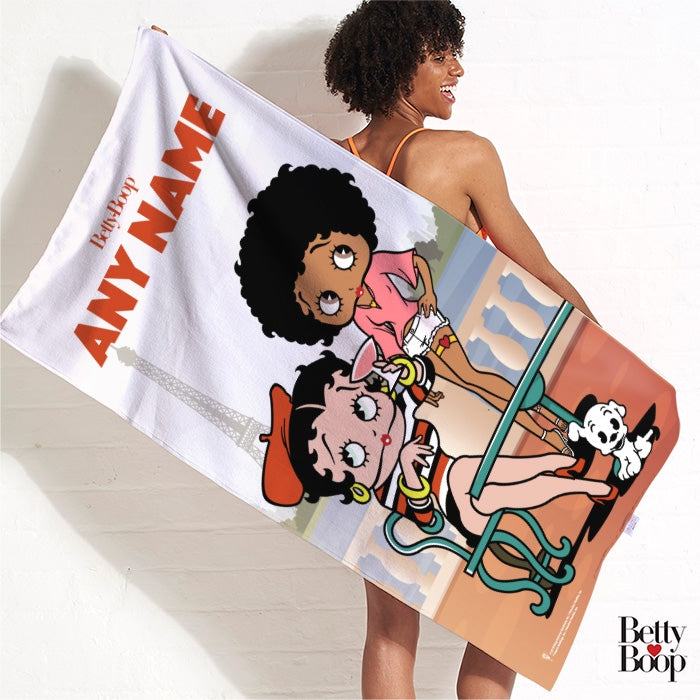 Betty Boop Parisian Betty Beach Towel - Image 3