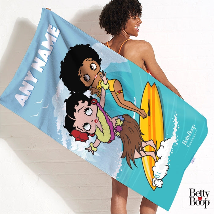 Betty Boop Surfing Betty Beach Towel - Image 3