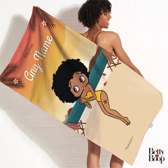 Betty Boop Sunset Beach Towel