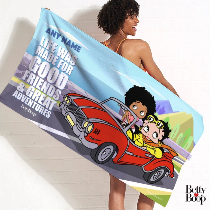 Betty Boop Great Adventures Beach Towel - Image 1