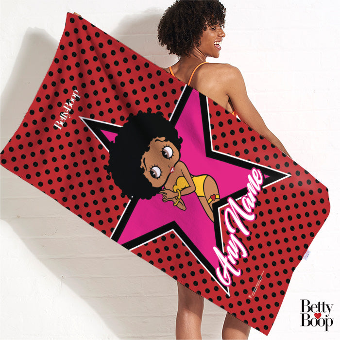 Betty Boop Polka Star Beach Towel