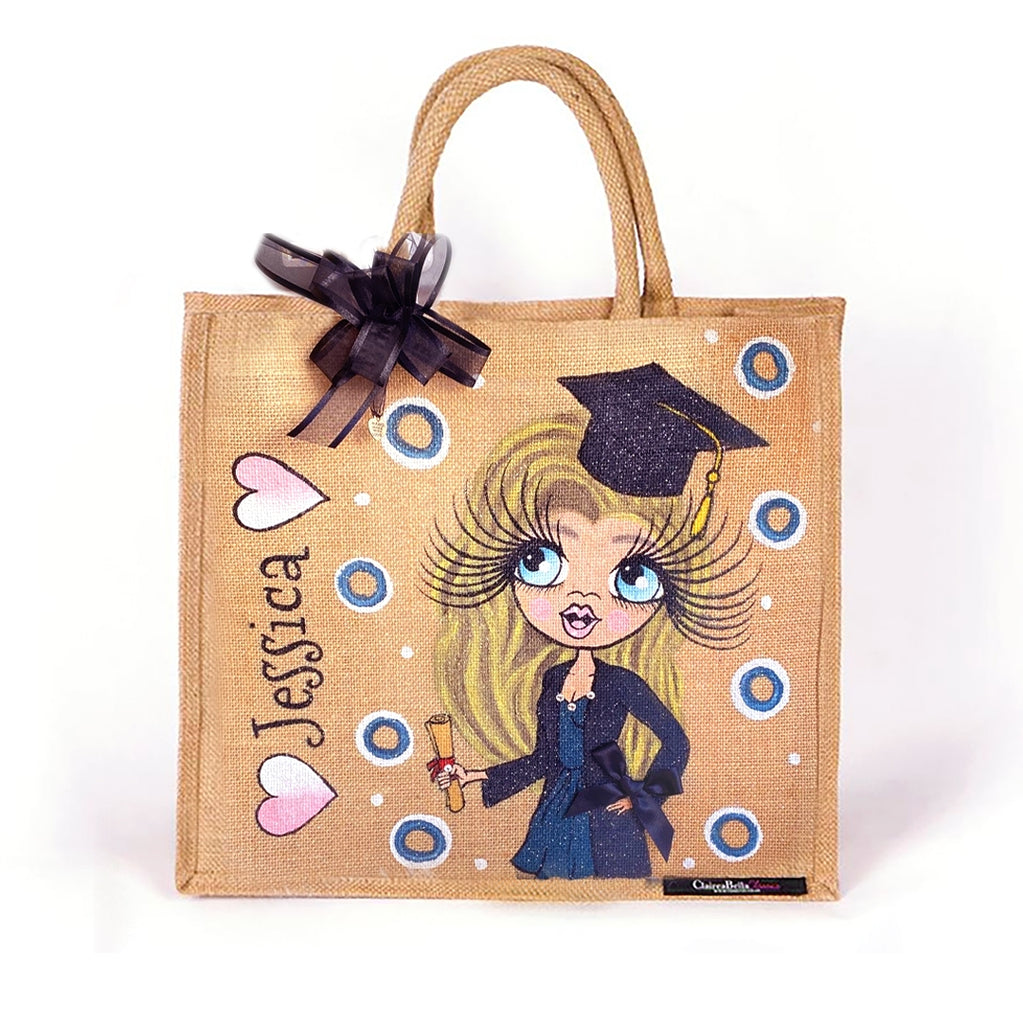 ClaireaBella Large Graduation Jute Bag - Image 1