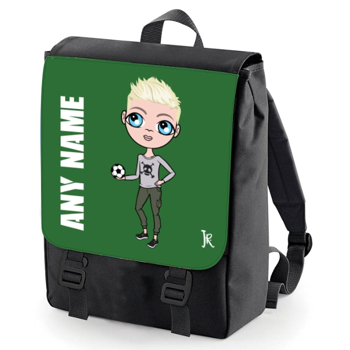 Jnr Boys Green Print Backpack - Image 2