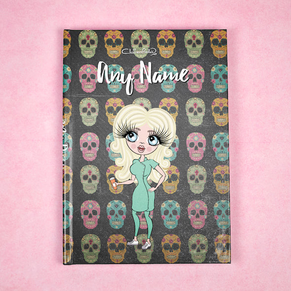 ClaireaBella A5 Hardback Diary - Skulls - Image 1