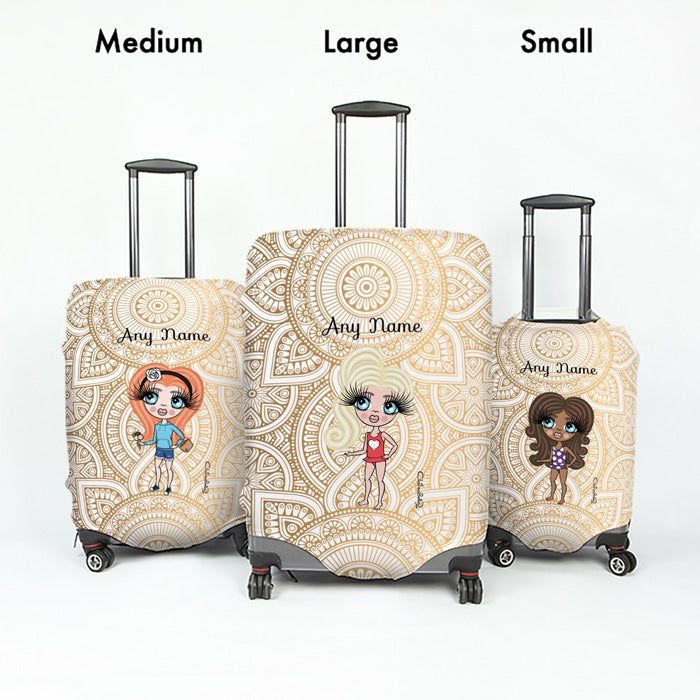 ClaireaBella Girls Golden Lace Suitcase Cover - Image 5