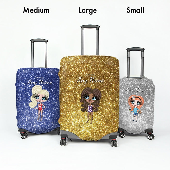 ClaireaBella Girls Glitter Effect Suitcase Cover - Image 5