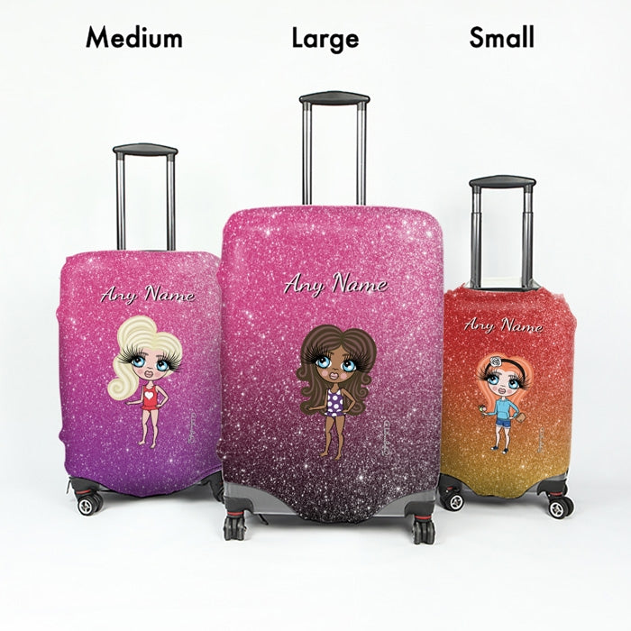 ClaireaBella Girls Ombre Glitter Effect Suitcase Cover - Image 5