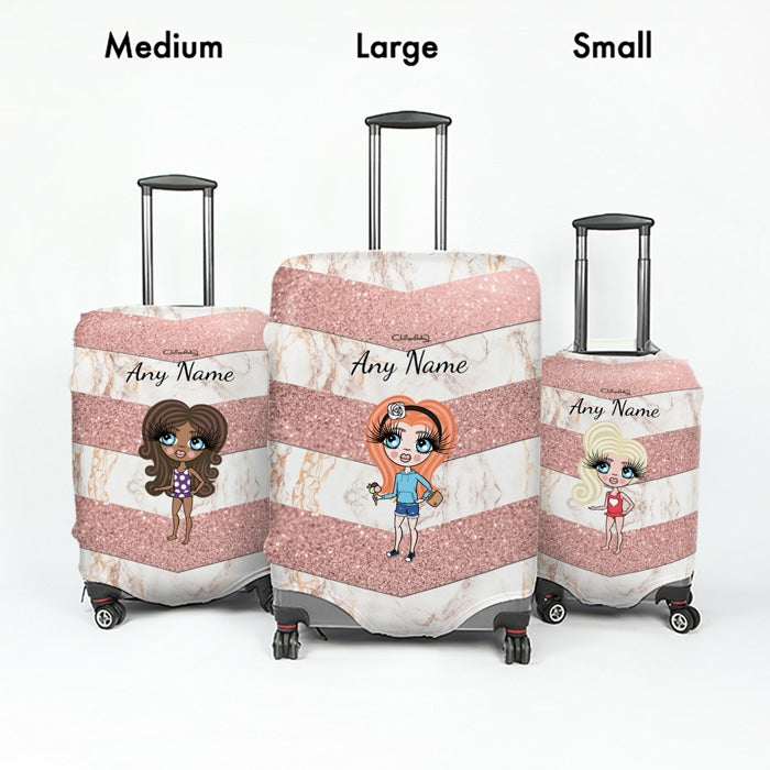 ClaireaBella Girls Chevron Geo Suitcase Cover - Image 5